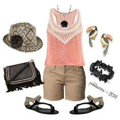 """Day at the park, zoo, wherever!"" by pwhiteaurora on Polyvore ~ I created this ensemble 6-1-14"