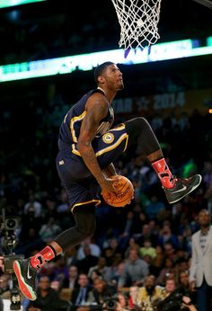 Paul George 360 between the legs dunk!