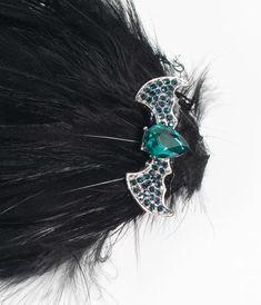 Flapper Accessories, Halloween Accessories, Women's Accessories, Halloween Hair Clips, Queen Hair, Black Feathers, Elegant Hairstyles, Bats, Unique Vintage