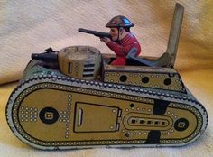Vintage Marx Toy Dough Boy Tin Litho Tank | eBay
