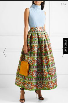 Multicolored brocade Concealed zip fastening along back polyester, silk, nylon; World Of Fashion, Fashion Online, Brocade Suits, Mix Style, New Look, Work Wear, Midi Skirt, High Waisted Skirt, Luxury Fashion