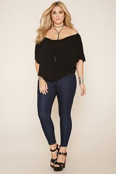 Plus Size Classic Skinny Jeans (Short) | Forever 21 PLUS - 2000057548