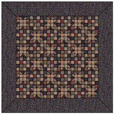 FREE Checkered Past Quilt Pattern designed by Hancy Reynolds. Civil War era pattern.