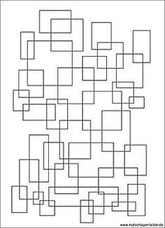 Mosaik Muster - Ausmalbild für Erwachsene