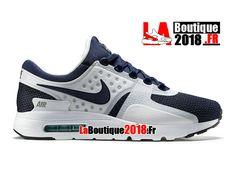 promo code 2ad13 5753b Nike Air Max Zero - Chaussure Mixte Nike Boutique Pas Cher (Taille Homme)  Blanc Bleu rift Hyper jade Bleu nuit marine 789695-104