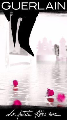 Dans le dressing de la Petite Robe Noire, je suis son accessoire fétiche, je suis Black Perfecto. Une création parfumée signée Guerlain : une Eau de Toilette Florale célébrant la rose dans tous ses états. L'Eau de rose, l'Essence de rose et l'Absolu de rose de Grasse sont ceinturés de notes d'amandes et de cuir. Parfum Alien, Parfum Chloe, Guerlain Paris, Pregnancy Problems, Rose Water, Beauty Make Up, Fett, Perfume Bottles, Cosmetics