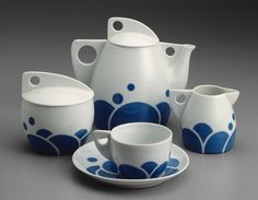 Tea Service. Jutta Sika. 1901, kind of ahead of it's time.