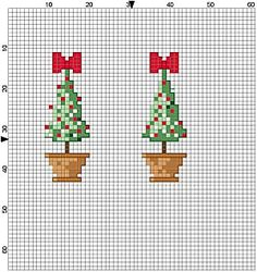 two tiny trees pattern