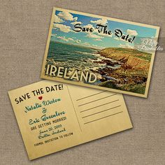 Ireland Save The Date Postcards  Printable by NiftyPrintables
