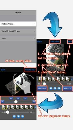 Rotate Video 360 - Any Angle on App Store:   Rotate Video 360 solves the problem of your iPhone or iPad incorrectly orientation when recording videos you can now rotate your videos in a very ea...  Developer: Jacky Wu  Download at http://ift.tt/1AIRhVe