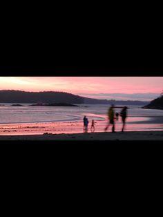 Walk on the beach in Tofino