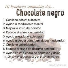 conoce los 10 beneficios saludables del chocolate negro Cooking Recipes, Healthy Recipes, Healthy Food, Health And Wellness, Health Fitness, Cacao Chocolate, Salud Natural, Life Care, Hot Fudge