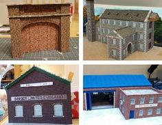 Here are four new architectural paper models  in OO scale (1/76 scale)  created by British designer Mike , from Wordsworth Model Railway ....