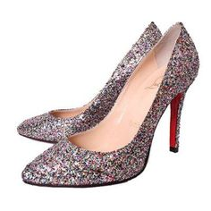 Cheap Christian Louboutins Outlet Pigalle 100mm Glitter Pumps Gray Online With 71% Off Sale.