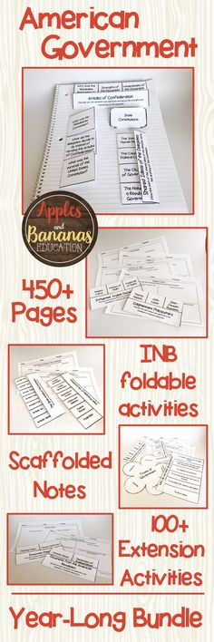 Supplement any American Government curriculum with this year-long bundle of scaffoded note activities.  Includes over 450 pages of foldable activities, scaffolded notes (with answer keys) and extension activities, great for engaging high school students.