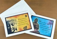 Buddha Quote Greeting Cards  Set of 4 by QuoteCreations on Etsy, $15.00