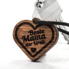 Beste Mama - 3in1_diy_schmuck Holzschmuck aus Naturholz / Anhänger Beste Mama, Cufflinks, Accessories, Diy Jewelry Necklace, Handmade, Repurpose, Ring, Wristlets, Wedding Cufflinks