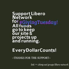 Support Libero Network today for #GivingTuesday! We have a goal to raise $500 in 48hrs--all funds go to keep our site + projects running. Thanks for the support! Link: https://chimp.net/groups/libero-network | #dogood #giveback #donate #mentalhealth #mentalhealthawareness #recovery #recoverysupport #nonprofit
