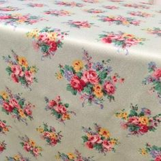 authentic 40s floral fabric curtains