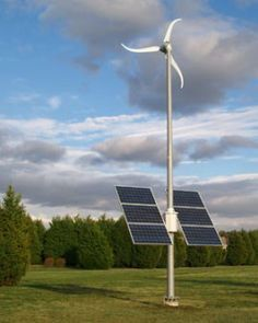 Small alternative energy hybrid systems for homes. Perfect set up geographically and weatherly for this type of dealio