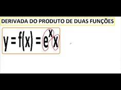 Como fazer uma derivada de um produto de duas funções. Utilização da Regra do produto na derivação. Aula do Curso de Cálculo Diferencial e Integral I.  Questão resolvida e comentada, passo a passo: y = f(x) = ex.x.   https://youtu.be/z7WiUYgfFW4
