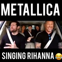 This is hilarious. All Metallica fans must see 🤣 Metallica Quotes, Metallica Lyrics, Metallica Funny, Metallica Metallica, Metallica Tattoo, Metallica Album Covers, Metallica Black Album, Metallica Albums, Metallica Videos