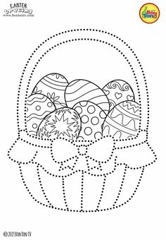 Easter Tracing and Coloring Pages for Kids - Free Preschool Printables and Worksheets, Fine Motor Skills Practice - Easter bunny, eggs, chicks and more on BonTon TV - Coloring books Easter Coloring Pictures, Easter Bunny Colouring, Easter Coloring Pages, Colouring Pages, Coloring Pages For Kids, Coloring Books, Easter Activities, Easter Crafts For Kids, Preschool Printables
