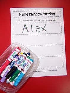 name rainbow writing