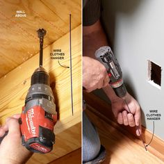 Installing an Electrical Outlet Anywhere - Adding receptacles isn't overly complicated, but there are facts you should know in order to stay safe and code compliant. Add Electrical Outlet, Installing Electrical Outlet, Outlet Wiring, Home Electrical Wiring, Electrical Projects, Electrical Installation, Electrical Outlets, Diy Home Repair, Arduino Projects