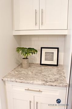 Autumn Carnival countertop with Sherwin Williams Oyster White paint colour and white subway tile Painting Countertops, Laminate Countertops, Bathroom Countertops, Backsplash, Updated Kitchen, Diy Kitchen, Kitchen Ideas, Ranch Kitchen, Kitchen Cabinets