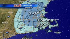 The latest snow totals for today.  Most accumulation will occur on grass but roads could be come snow-covered. #WCVB