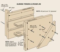 Table Saw Tricks For Making Vertical Cuts: Using the table saw to shape the edges of a workpiece is a snap with a couple of easy-to build accessories and simple techniques. Woodworking Jig Plans, Woodworking Table Saw, Woodworking Hand Tools, Woodworking Workshop, Woodworking Techniques, Woodworking Projects Diy, Table Saw Workbench, Table Saw Jigs, Diy Table Saw