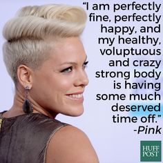 Pink is healthy, strong, and all about body positivity