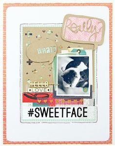 #papercrafting #scrapbook #layouts: Tina Walker - Getting my scrap on with the Dec kit from Gossamer Blue
