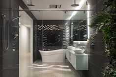 MINT Lighting Design – Bathroom Lighting – Bathroom Design – Black and White Bathroom – Hidden Light – Hallow Mirror - Melbourne Architect – Australian Homes Broad Lighting, Unique Lighting, Lighting Design, Melbourne, Sydney, Relaxing Bathroom, Diy Bathroom Decor, Design Bathroom, Houses