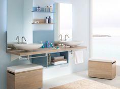 salle de bains design épuré, accessible aux personnes handicapées