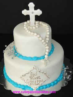 Religious Cake with rosary