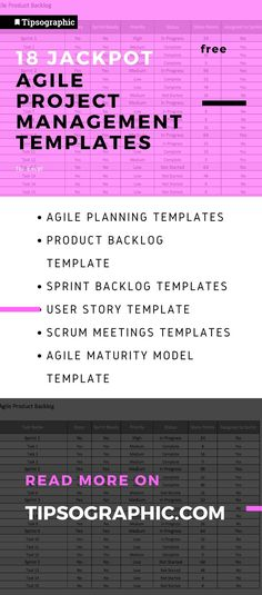 18 Jackpot Agile Project Management Templates for Excel, Free. Read more on Tipsographic.com