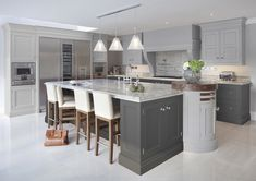 Hayburn & Co have designed this gorgeous grey kitchen - restful and practical