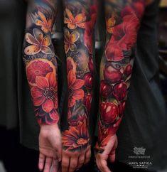 the best full sleeve tattoos Neue Tattoos, Body Art Tattoos, Girl Tattoos, Tattoos For Women, Tattoos For Guys, Tattoos Pics, Tattoo Images, Full Sleeve Tattoos, Tattoo Sleeve Designs