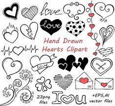 Doodle Hearts Clipart set includes: 90 PNG files with transparent backgrounds ( the biggest one approximately 12 wide) + 4 EPS, 4 AI (vector) files all together This BIG SET is actually a combination of the following items: https://www.etsy.com/listing/260863039/doodle-hearts-clipart-heart-clip-art https://www.etsy.com/listing/260747109/doodle-hearts-clipart-heart-clip-art https://www.etsy.com/listing/260647748/dood...