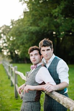Gay wedding inspiration OR A very Cute/Funny Groom & Best Man Pic. x) Autumn wedding, outdoor wedding, wedding picnic, Styling by wedding planner Matthew Oliver, Photography by Hayley Savage Lgbt Wedding, Wedding Pics, Wedding Blog, Wedding Images, Wedding Groom, Wedding Ideas, Cute Gay Couples, Couples In Love, Wedding Mallorca
