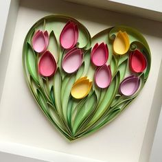 Your place to buy and sell all things handmade Paper Quilling Flowers, Paper Quilling Cards, Paper Quilling Patterns, Quilled Paper Art, Paper Flowers Craft, Quilling Paper Craft, Paper Crafts Origami, Quilled Roses, Quilling Comb