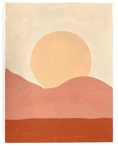#simple #painting #ideas #aesthetic simple painting of the sunset with warm tones Inspiration Art, Art Inspo, Art Design, Graphic Design, Interior Design, Art Et Illustration, Simple Illustration, Easy Paintings, Oeuvre D'art