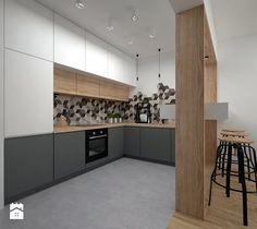 Aranżacje wnętrz - Kuchnia: Mieszkanie - 40 m2 - Kuchnia, styl skandynawski…