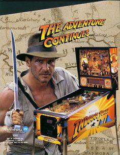 Pinball Machines - Indiana Jones Pinball Machine (1993) - The Pinball Company