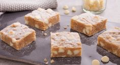 Indulge your sweet tooth with these White Chocolate Blondies by Veggie Mama. White Chocolate Blondies, White Chocolate Chips, No Cook Meals, Kids Meals, Cooking With Kids, Dessert Recipes, Desserts, Winter Food, Sweet Tooth