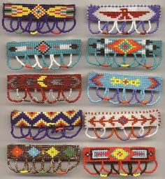 Free Native American Beadwork Patterns | native indian beading patterns | Beaded Barrettes | jewelry making