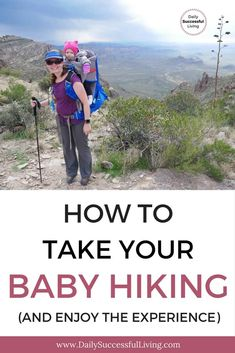 Looking to hit the trails with your baby or toddler? These 9 tips will help you survive hiking with a baby. In this article, I discuss hiking gear, baby backpacks, clothing and offer fun tips I use when hiking with my infant. Hiking Food, Hiking Tips, Camping And Hiking, Hiking Gear, Backpacking Food, Winter Camping, Camping Gear, Hiking Tattoo, Outdoor Activities For Toddlers