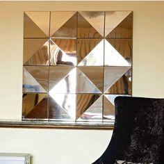 Elegante espejo de estilo vintage, realizado todo en espejo Mirrors, Mexico, Abstract, Artwork, Decorative Mirrors, Consoles, Cabinets, Vintage Style, Elegant